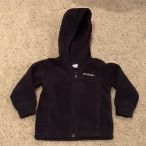 Columbia hooded zip up fleece size 2T